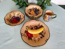 """Home Trends Granada 7 Pieces: dinner plate, 9"""" bowl, mug, and 4 dessert plates"""