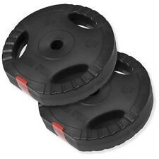 Gorilla Sports 2x 15KG Vinyl Tri Grip Weight Plates