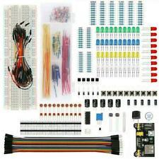 Electronic Component Starter Kit Wire Breadboard Ledbuzzers Transistors Z0q H