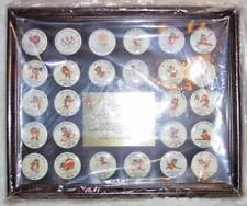 1-A Calgary 1988 Olympic Winter Games & Seoul Button 26 Pin Set US Team Mascots