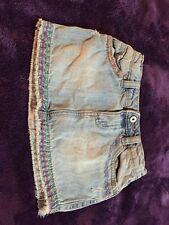 Girls Old Navy Size 5 Denim Jean Skirt Distressed Blue