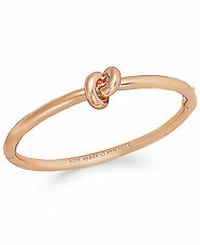 Kate Spade Sailor's Knot Hinge Bangle Bracelet Rose Gold WBRU7894 MSRP $78