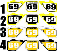 1996-1998 Suzuki RM125 250 RM 125 250 Number Plates Side Panels Graphics Decal