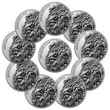 Lot of 10 2018 Republic of Chad African Lion 1 oz Silver GEM BU SKU51643