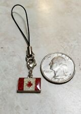 Canadian Flag Canada Cell Phone Charm, Zipper pull, keychain use for anything