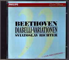 Sviatoslav RICHTER: BEETHOVEN Diabelli Variations CD PHILIPS 1988 Variationen
