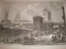Holborn Valley viaduct London 1869 print