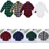 Newborn Infant Romper T-Shirt Jumpsuit Outfits Boys Gentleman T-shirt Clothes