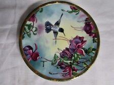 Black Chinned Hummingbird & Fuchsia - Gems Of Nature Limited Plate