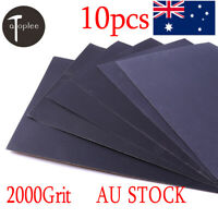 AU 10 Pcs Wet & Dry Abrasive Sandpaper Sheets 2000 Grade for DIY/Industrial