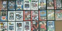 Lot of 23 Sega Genesis Sports Games Complete CIB / Tested NHL NFL Madden NBA PGA