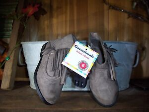 GARANIMALS GIRL TODDLER CASUAL DRESS BOOTS SIZE 4 SUEDE ZIPPER SIDE FRINGES NEW