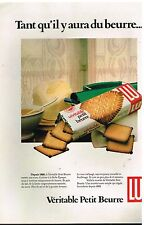 Publicité Advertising 1980 Les Biscuits Véritable Petit Beurre LU