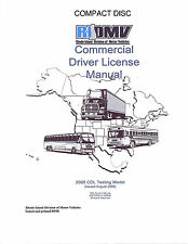 COMMERCIAL DRIVER'S MANUAL FOR CDL TRAINING (RHODE ISLAND) ON CD IN PDF PROGRAM.
