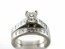 2.27 CT Natural Princess Cut Diamond Lady's Engagement Ring Sets 950 Platinum