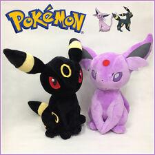 "2X Pokemon Espeon Umbreon Plush Soft Toy Stuffed Animal Doll Teddy 13"" VERY BIG!"
