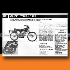 ★ MOTO GUZZI 125 TRIAL ★ 1977 Essai Moto / Original Road Test #c235