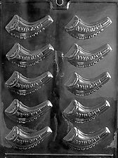 SHOFAR JEWISH HORN mold Chocolate Candy Hebrew alphabet jewish