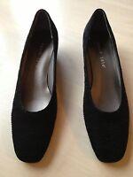 David Tate Women's Shoes Black Heels Gathered Size 9 Narrow NWOB