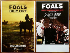 FOALS Holy Fire 2013 Ltd Ed 2 Posters Lot +FREE Indie/Rock/Dance/Punk Poster