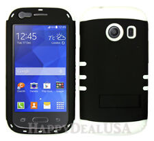For Samsung Galaxy Ace Style S765c - KoolKase Hybrid Cover Case - BLACK (R)