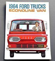 ORIGINAL NEW 1964 FORD ECONOLINE VAN BROCHURE ~ NOS ~ 6 PAGES ~ 64FEVR
