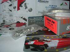 SilverLine Tameo 1:43 KIT SLK 104 Alfa Romeo 182 F.1 Monaco GP 1982 NEW