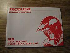 NOS Honda 1988 TRX 300 Owner's Manual NEW Original Vintage Repair ATV 4x4 TRX300