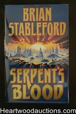 Serpent's Blood by Brian  Stableford (1995) Signed First Edition- High Grade