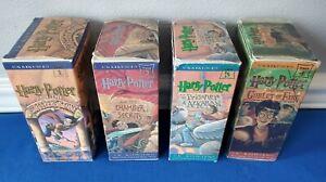 Harry Potter Cassette Tapes Set Books 1 2 3 4 - Sorcerer Chamber Prisoner Goblet
