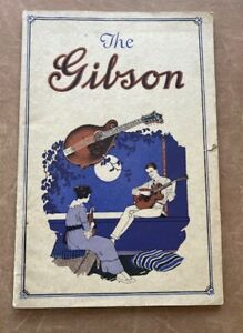 Vintage  orig.Gibson 1920 Catalog L with updated 1921 price list guitars mandos