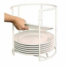 More details for vogue round plate carrier holder rack in white made of plastic 254(Ø)mm/ 10