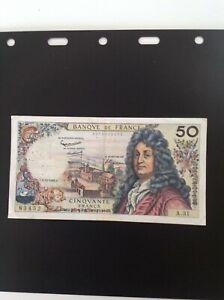Billet de 50 francs Racine 1962