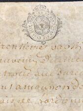 ANTIQUE PARCHMENT 1757