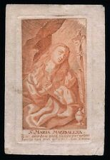 santino incisione 1700 S.MARIA MADDALENA