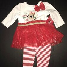 Christmas Rudolph Baby Outfit, 2-pieces, 9 Month, NWT