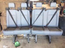 4 PASSENGER GRAY VINYL FORD TRANSIT VAN SEATS
