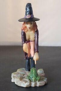 Fiesta Studio Sexy Witch & Frog Figurine