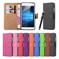 New Slim Flip Book Soft Leather TPU Wallet Case Cover For Microsoft Lumia Phone
