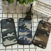 Mobile Phone Back Army Camo Soft TPU Case Cover For Apple iPhone 8 Plus X 6S 7