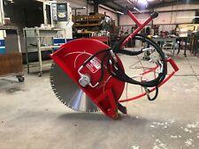 """Concrete Cutting Hydraulic Walk Behind Push Floor Saw - 24"""""""
