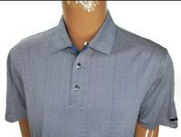 Nike Tiger Woods Collection Dri Fit Mens Golf Polo Shirt Blue Striped Large