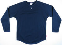 Detroit Tigers Blue Majestic Authentic Therma Base MLB Baseball Pullover Small