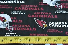 "By 1/2 Yd, 60"" Wide, Arizona Cardinals Cotton Quilt Fabric, N.T.T./6239, N1945"