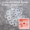 120 x Transparent Mechanical Keyboard Keycap Rubber O-Ring Dampeners Cherry MX