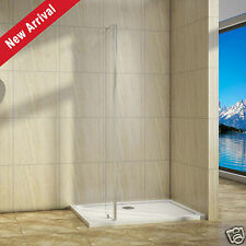 250x2000 Return Panel for Wet Room Shower Enclosure 8mm Easy Clean Glass Screen