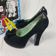 Irregular Choice Black Heels Floral Front Size UK 6 EUR 40