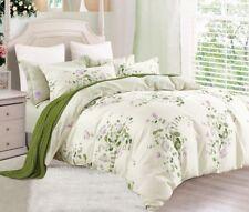 Graceful Print 100% Cotton Bedding Set:1 Duvet Cover & 2 Pillow Shams  All Sizes