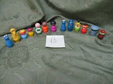 Fisher Price Little People Play Family 939 940 Sesame Street 13 Piece Collection