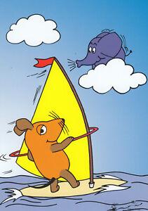 Postkarte: Die Maus beim Surfen